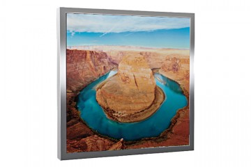 Glas-Bildheizung Colorado Silber 300 W