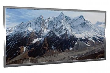 Glas-Bildheizung Nepal Silber 600 W