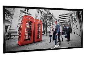 Glas-Bildheizung London-1 Schwarz 600 W