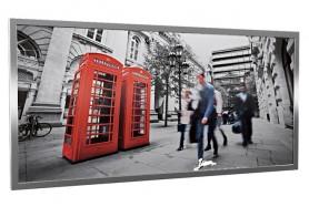 Glas-Bildheizung London-1 Silber 600 W