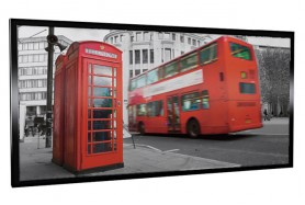 Glas-Bildheizung London-2 Schwarz 600 W
