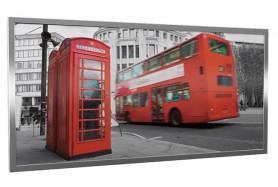 Glas-Bildheizung London-2 Silber 600 W