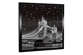 Glas-Bildheizung London-3 Schwarz 300 W