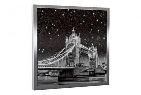 Glas-Bildheizung London-3 Silber 300 W