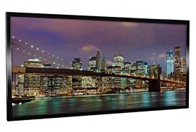 Glas-Bildheizung Manhattan-2 Schwarz 600 W