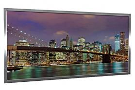 Glas-Bildheizung Manhattan-2 Silber 600 W